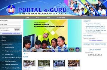 Muka depan Portal eGuru